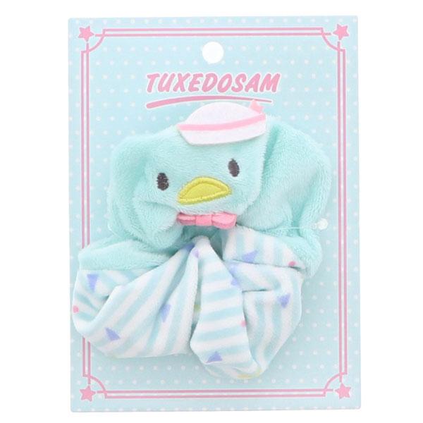 Sanrio USA kawaii Tuxedo Sam scrunchy