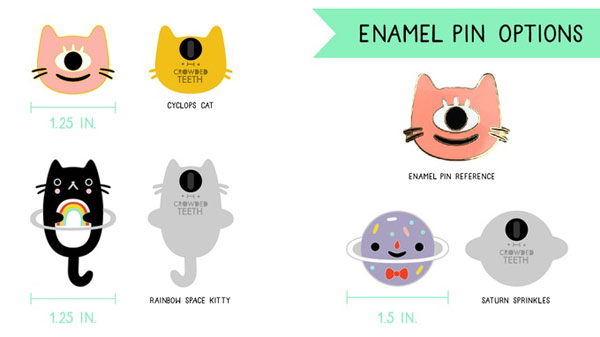Crowded Teeth enamel pins