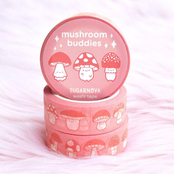 kawaii mushrooms washi tape