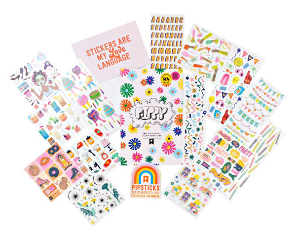 kawaii stickers subscription boxes