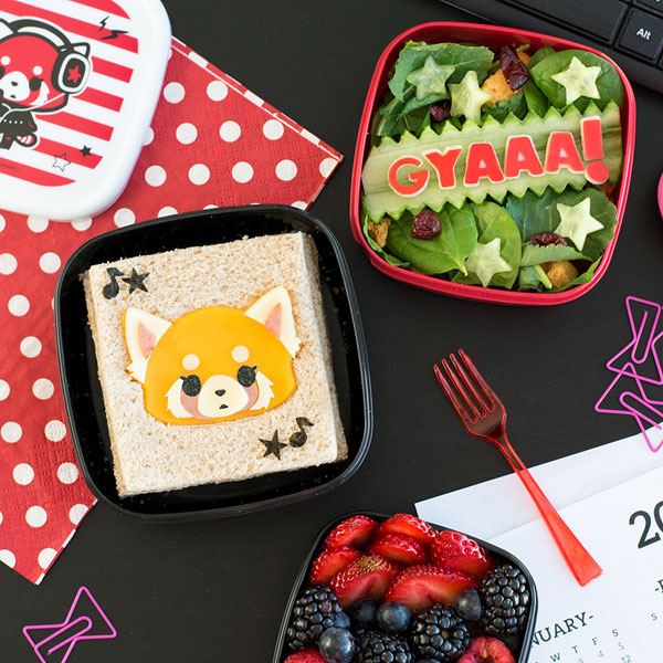 Aggretsuko DIYs - bento box lunch