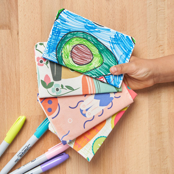 No-Sew Fabric DIY - covered notebooks