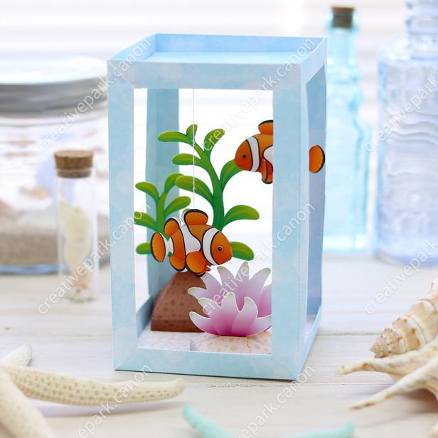 DIY clownfish paper aquarium