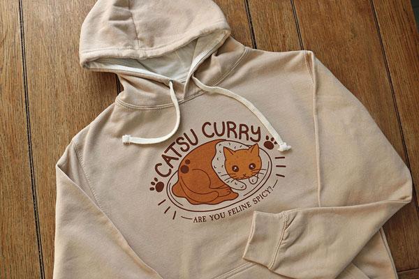 kawaii catsu curry hoodie