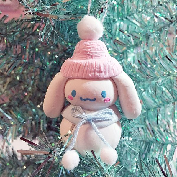 Snowman Cinnamoroll Christmas Ornament Tutorial