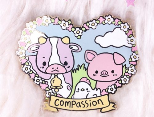 animal lover kawaii enamel pin