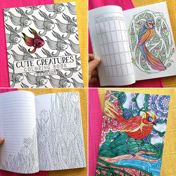 Cute Creatures ​coloring ​book giveaway
