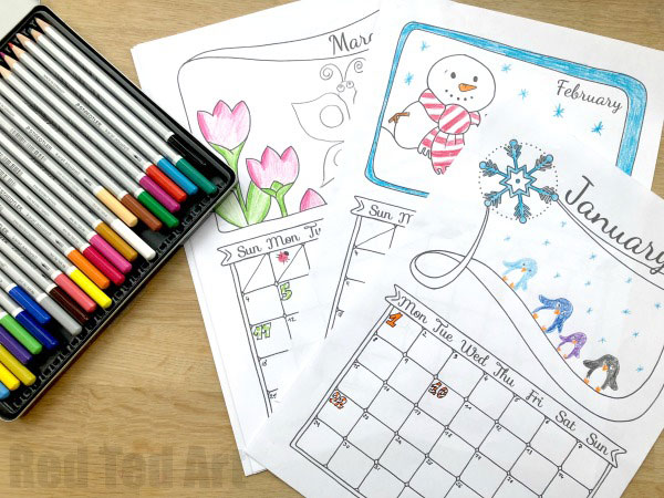DIY 2021 Printable Calendars