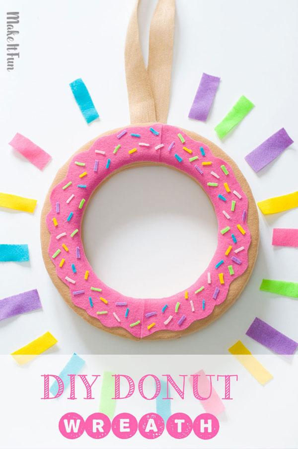 Kawaii donut wreath DIY