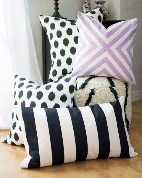 No-Sew Fabric DIY - throw pillows