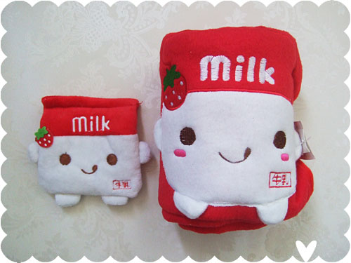 milk purse and blanket