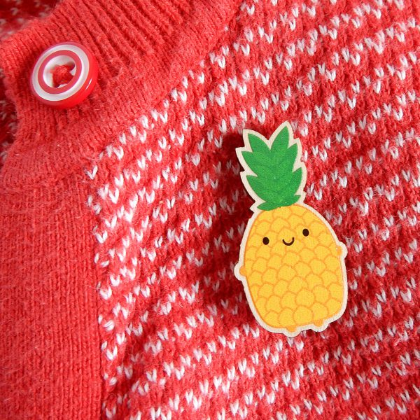kawaii pineapple brooch