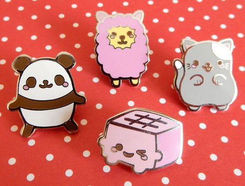 tofu cute enamel pins