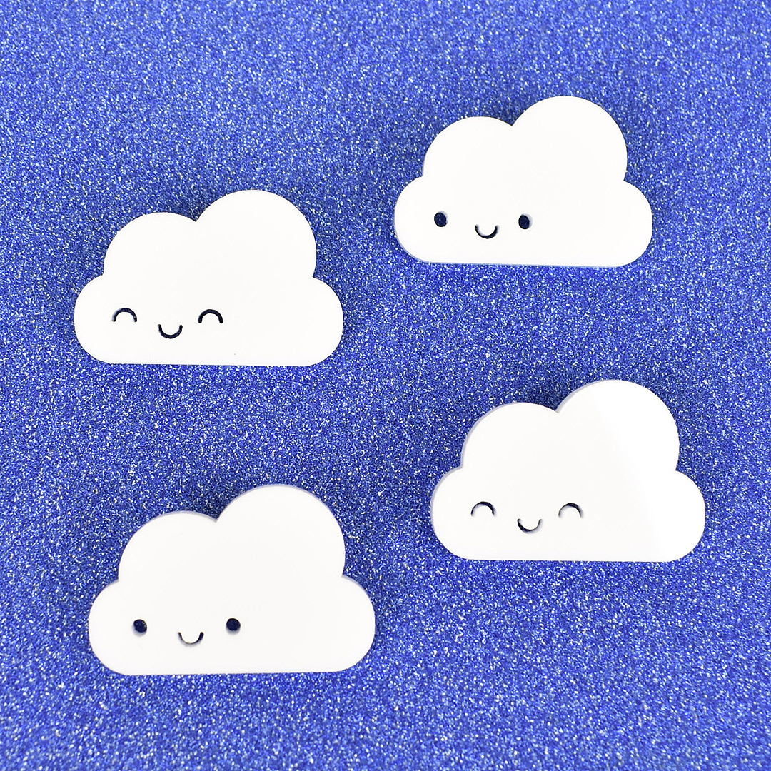 kawaii cloud brooches