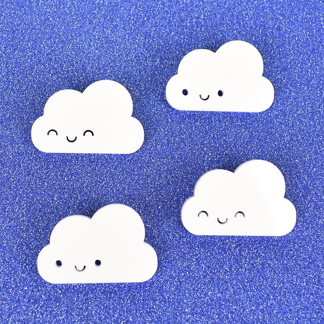 kawaii cloud brooches