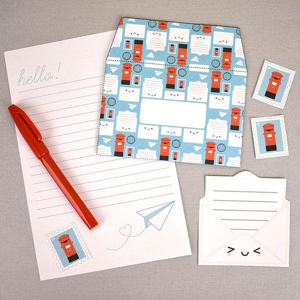 kawaii printable stationery