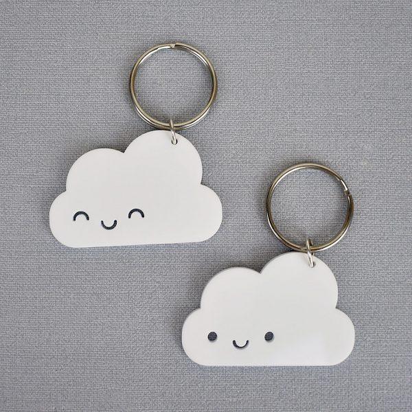 kawaii cloud keyrings