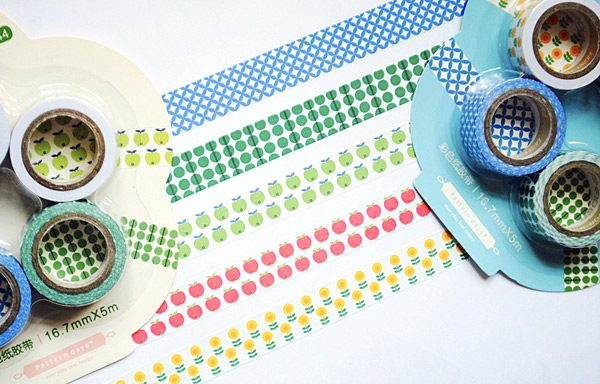 kawaii fruits washi tape