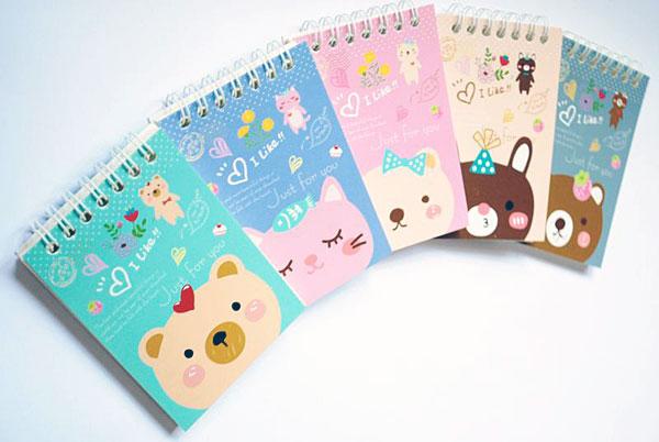 kawaii stationery - animal notepads