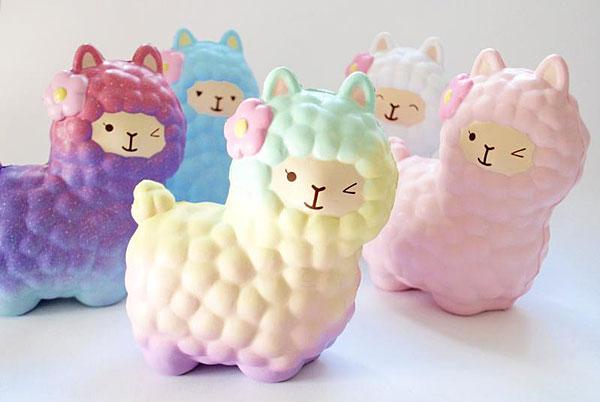 pastel alpaca kawaii squishies