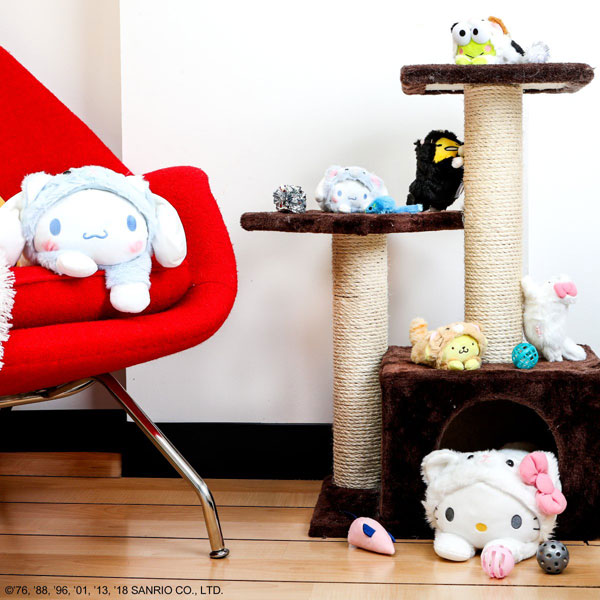 sanrio cat plushies
