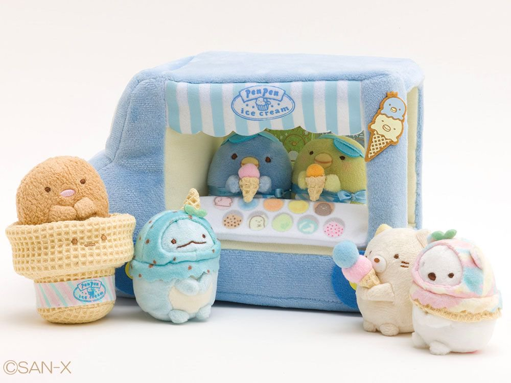 Sumikko Gurashi PenPen Ice Cream plush