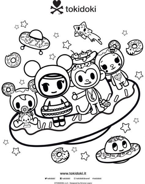 tokidoki Donutella coloring pages