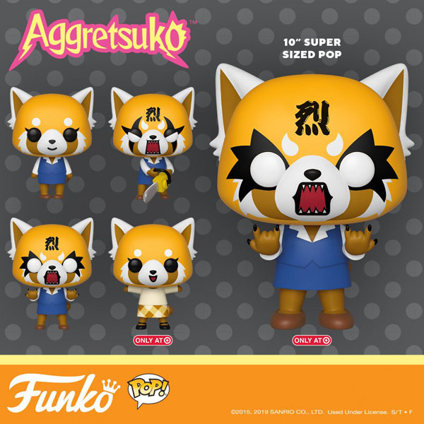Aggretsuko Funko pop vinyl figures