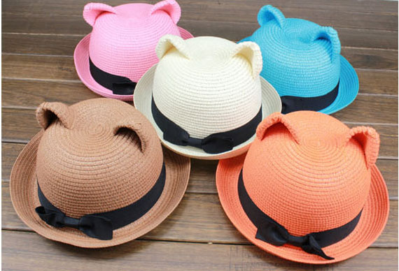 cat ears straw hats
