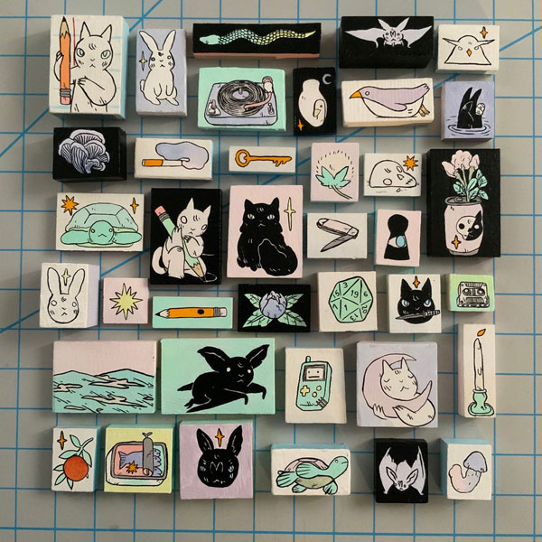 Original Cute Wall Art - mini paintings