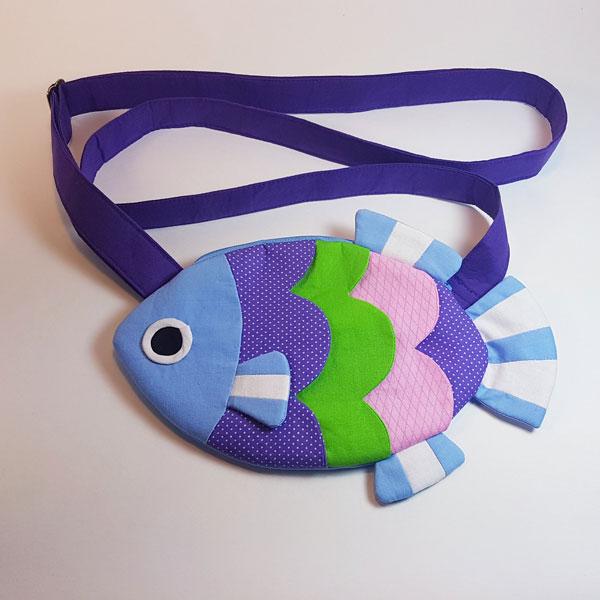 Animal Crossing fish pochette pattern