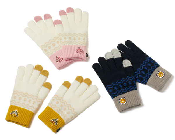 kawaii touch screen gloves