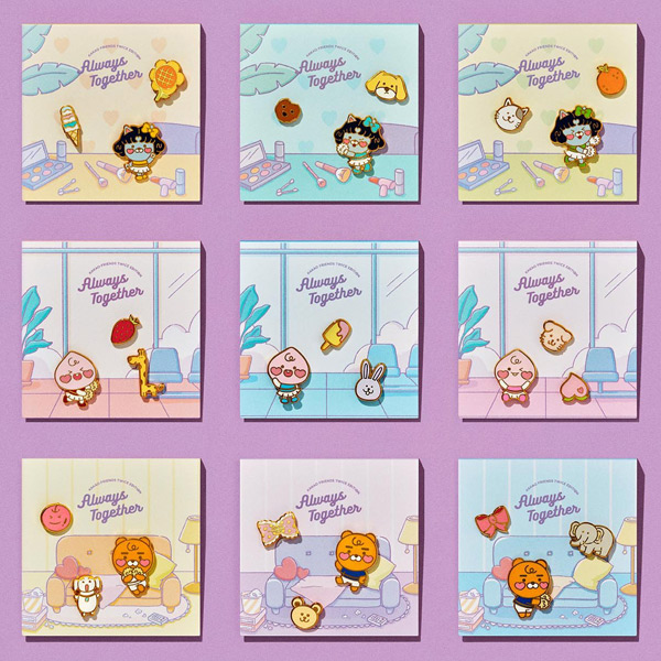 Kakao Friends enamel pins