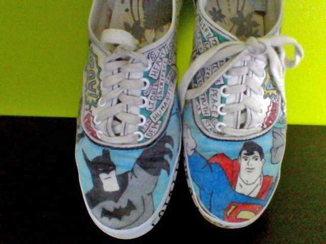 cute comic book shoes DIY