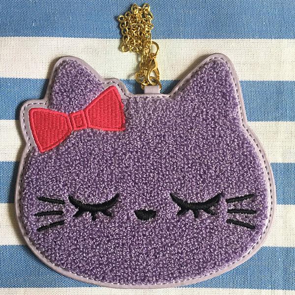 kawaii cat pass case