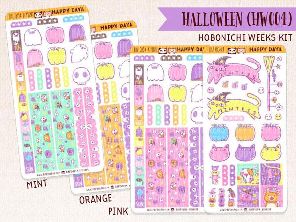 Kawaii Halloween Planner Stickers