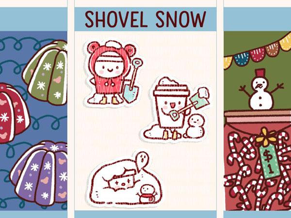 winter planner stickers