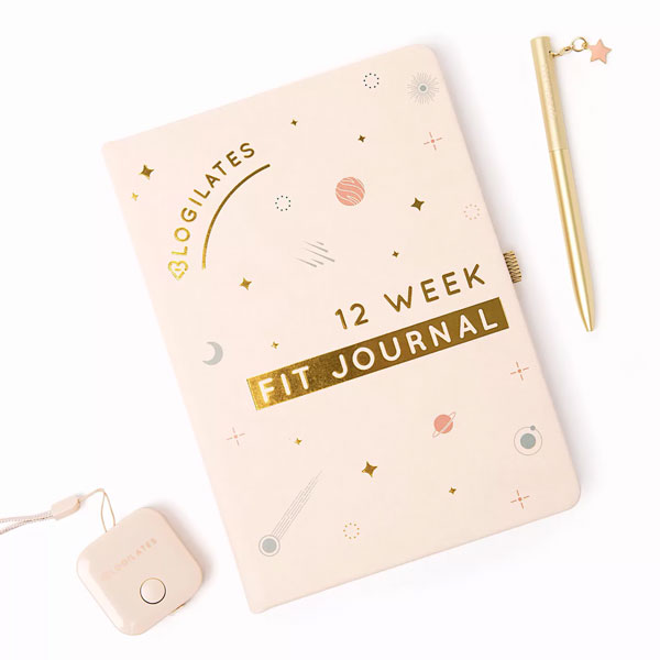 pastel fitness journal