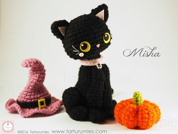 halloween crafts black cat amigurumi plush pattern