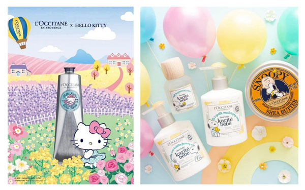 L'Occitane Hello Kitty and Snoopy