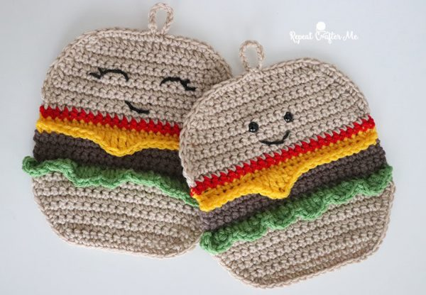 Kawaii Hamburger crochet pattern
