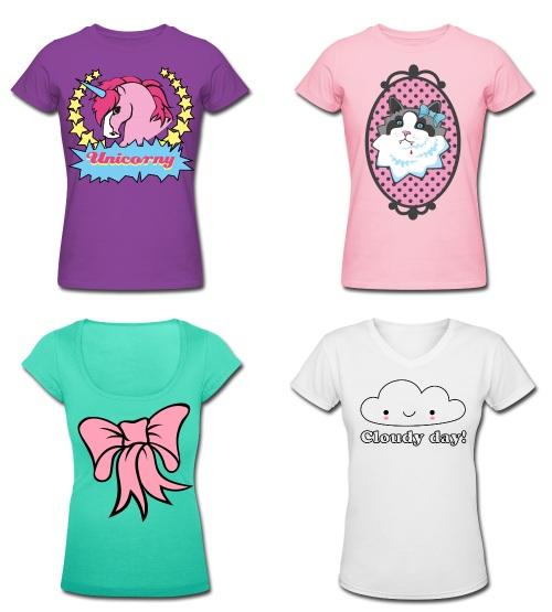 Hawaii Kawaii t-shirts