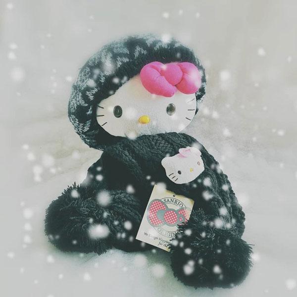 kawaii hello kitty winter scarf
