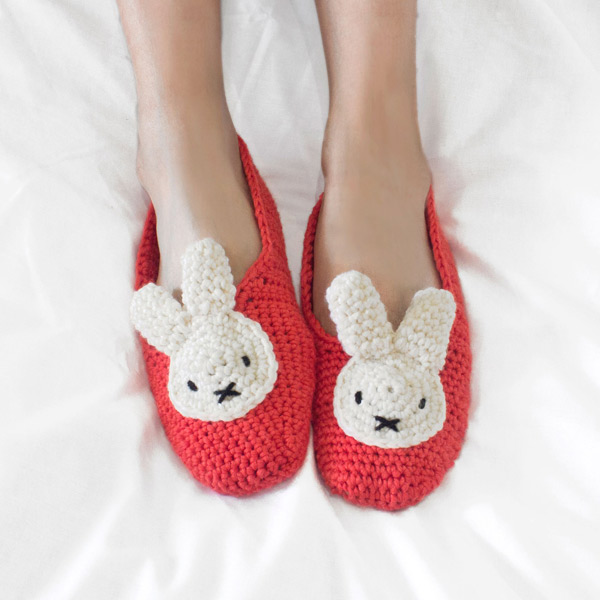 Miffy slippers amigurumi crochet patterns and kits