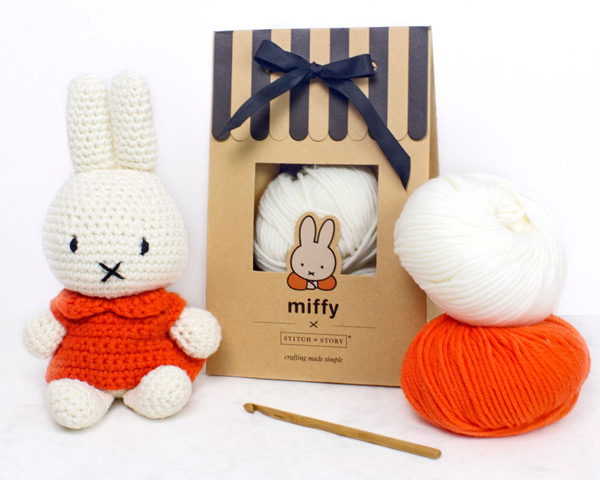 Miffy kawaii amigurumi crochet and knitting patterns and kits