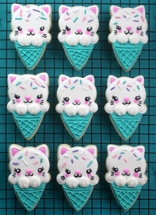 kitty ice cream cookies