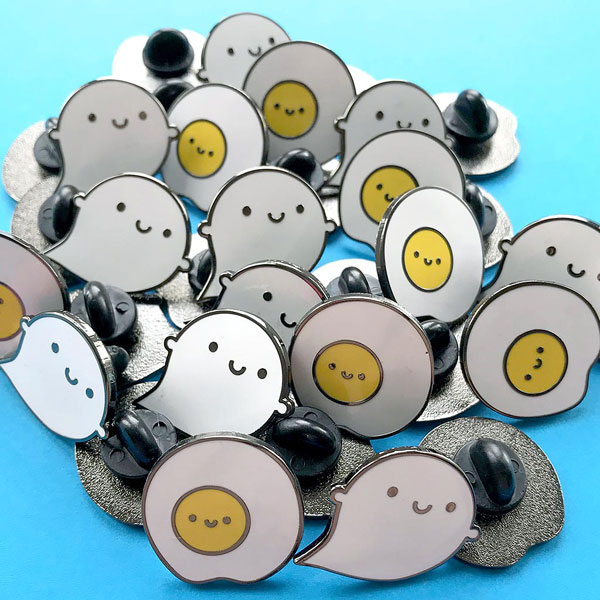 kawaii ghost enamel pin