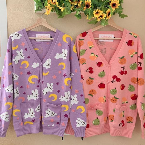 kawaii knitted cardigans
