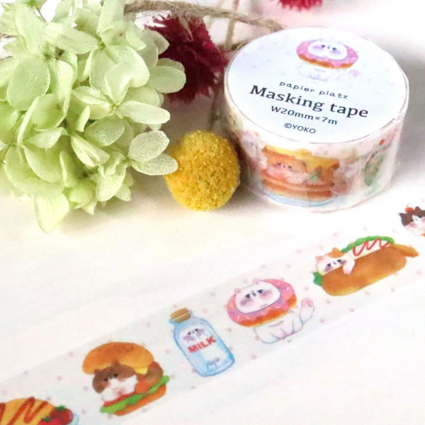 cat food washi tape at Cute Things From Japan