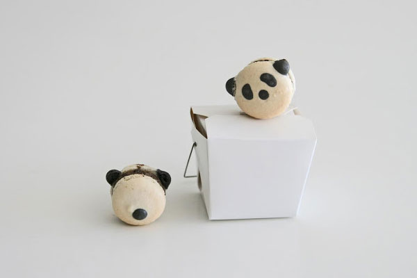 kawaii Panda macarons